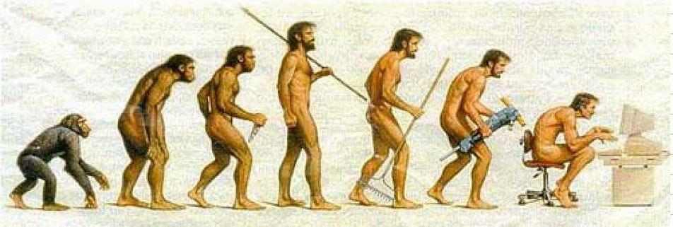 Imagenes sobre la evolucion humana Fake!!!!